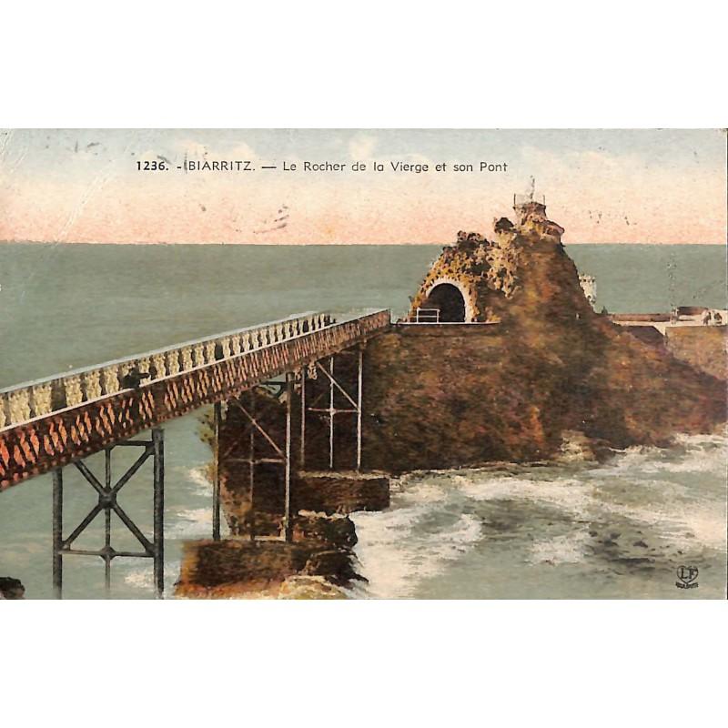 ABAO 64 - Pyrénées Atlantiques [64] Biarritz - Le Rocher de la Vierge et son Pont.