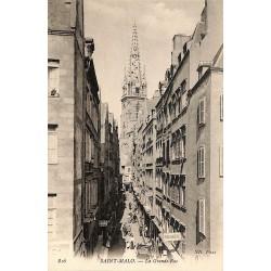 ABAO 35 - Ille-et-Vilaine [35] Saint-Malo - La Grande-Rue.