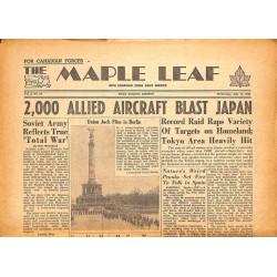Journaux et périodiques The Maple Leaf. 1945/07/11. Vol.3 N°92.