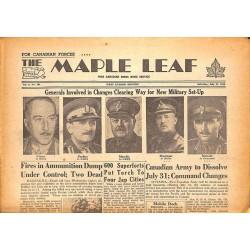 Journaux et périodiques The Maple Leaf. 1945/07/21. Vol.3 N°101.