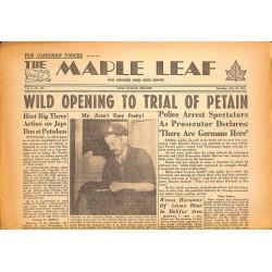 Journaux et périodiques The Maple Leaf. 1945/07/24. Vol.3 N°103.