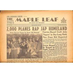 Journaux et périodiques The Maple Leaf. 1945/07/25. Vol.3 N°104.