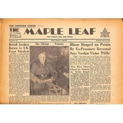 Journaux et périodiques The Maple Leaf. 1945/07/26. Vol.3 N°105.