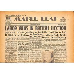 Journaux et périodiques The Maple Leaf. 1945/07/27. Vol.3 N°106.