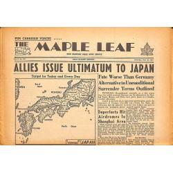 ABAO Journaux et périodiques The Maple Leaf. 1945/07/28. Vol.3 N°107.