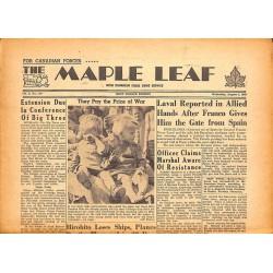 ABAO Journaux et périodiques The Maple Leaf. 1945/08/01. Vol.3 N°110.