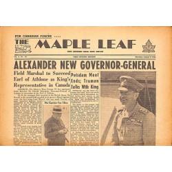 Journaux et périodiques The Maple Leaf. 1945/08/02. Vol.3 N°111.