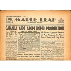 Journaux et périodiques The Maple Leaf. 1945/08/08. Vol.3 N°116.