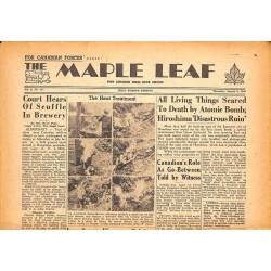 Journaux et périodiques The Maple Leaf. 1945/08/09. Vol.3 N°117.