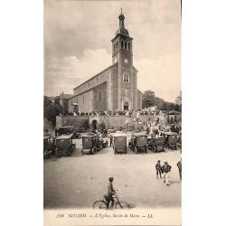 ABAO 35 - Ille-et-Vilaine [35] Dinard - L'Eglise. Sortie de Messe.