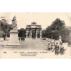 """75 - Paris [75] Paris - """"Quand Même!"""" de Mercié. Carrousel des Tuillerie."""