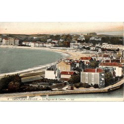 ABAO 64 - Pyrénées Atlantiques [64] Saint-Jean-de-Luz - La Plage vue de Ciboure.