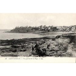 ABAO 35 - Ille-et-Vilaine [35] Dinard - Saint-Enogat. Vue générale de la Plage.