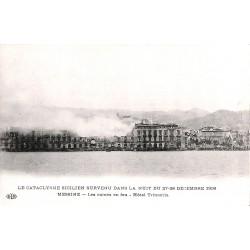 ABAO Italie Messine - Les ruines en feu. Hôtel Trinacria.