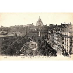 75 - Paris [75] Paris - Le Square d'Anvers et le Sacré-Coeur.