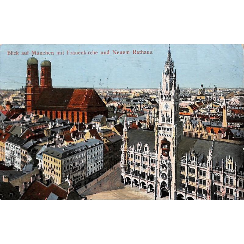 Allemagne München - Blick auf München mit Frauenkirche und Neuem Rathaus.