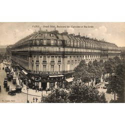 ABAO 75 - Paris [75] Paris - Grand Hôtel, Boulevard des Capucines et Rue Scribe.