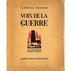 1900- MERCIER (Cardinal).- VOIX DE LA GUERRE.