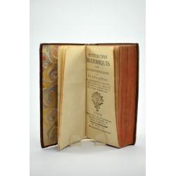 1700-1799 BORDEU, Théophile de. RECHERCHES ANATOMIQUES SUR LA POSITION DES GLANDES ET SUR LEUR ACTION.