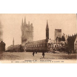 Flandre occidentale Ieper / Ypres - Campagne de 1914. Ruines d'Ypres.