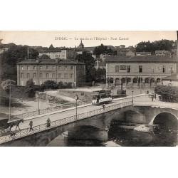 88 - Vosges [88] Epinal - Le musée et l'Hôpital. Pont Carnot.