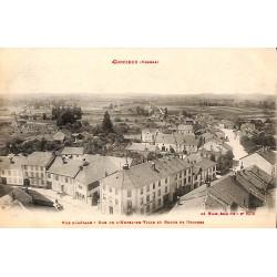 ABAO 88 - Vosges [88] Corcieux - Vue générale, Rue de l´Hotel-de-Ville et Route de Granges.