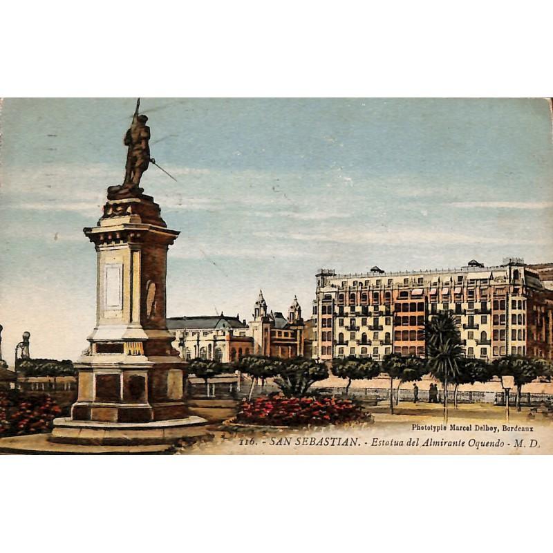 ABAO Espagne San Sebastian - Estatua del Almirante Oquendo.