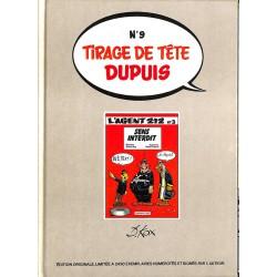 ABAO Bandes dessinées Agent 212 03 Tirage de tête Dupuis n°9
