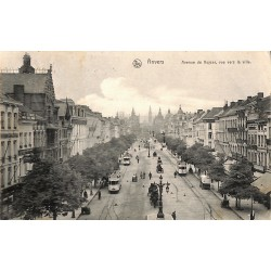 ABAO Anvers Anvers - Avenue de Keyser, vue vers la ville.