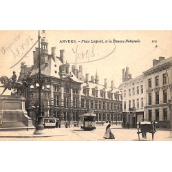Anvers Anvers - Place Léopold et la Banque Nationale.