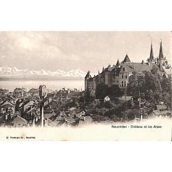 ABAO Suisse Neuchâtel - Château et les Alpes.