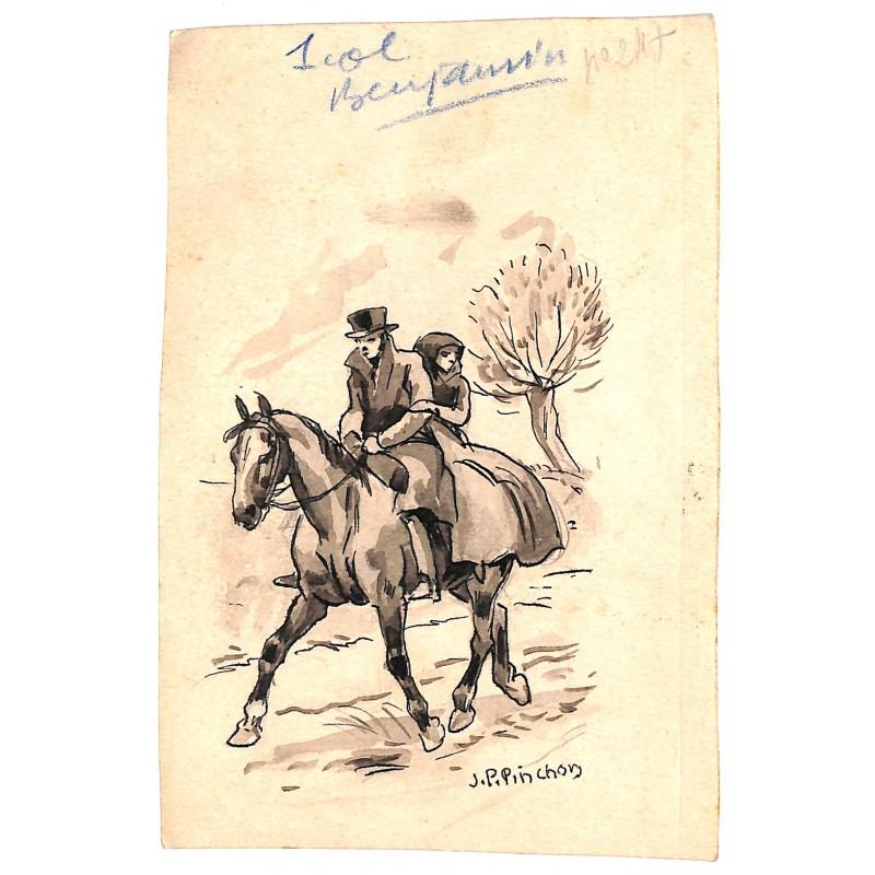 ABAO Originaux PINCHON, Joseph Porphyre.- Dessin pour Benjamin.