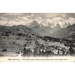 ABAO Suisse Beatenberg - Schreckhorn 4080 m, Eiger 3975 m, Mönch 4105 m und Jungfrau 4167 m.