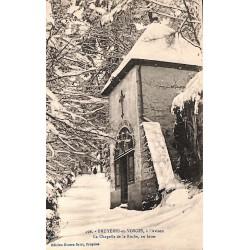 ABAO 88 - Vosges [88] Bruyères-en-Vosges - La Chapelle de la Roche, en hiver.