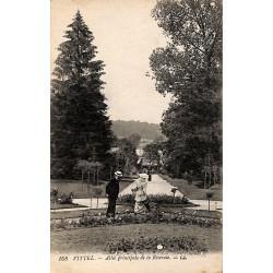ABAO 88 - Vosges [88] Vittel - Allée principale de la Roseraie.