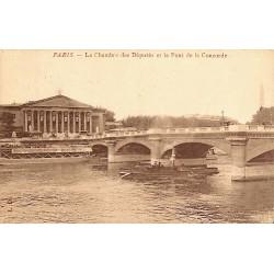 ABAO 75 - Paris [75] Paris - La Chambre des Députés et le Pont de la Concorde.