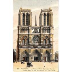 ABAO 75 - Paris [75] Paris - La façade de Notre Dame ...