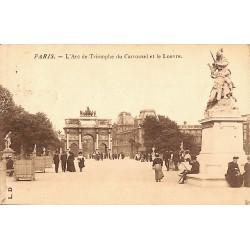ABAO 75 - Paris [75] Paris - L'Arc de Triomphe du Carrousel et le Louvre.