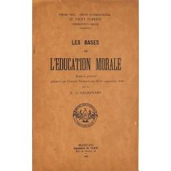 1900- HANNEVART, G.- LES BASES DE L'EDUCATION MORALE.