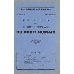 ABAO Journaux et périodiques Bulletin de la Fédération française du Droit Humain. 1970 n°46.