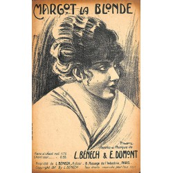 Partitions BENECH, Louis.- MARGOT LA BLONDE.