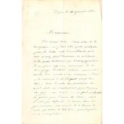 ABAO Lettres et manuscrits Lettres concernant Gabriel PEIGNOT. 1863.