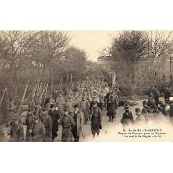 ABAO 17 - Charente-Maritime [17] Ile de Ré. Saint-Martin - Départ de Forçats pour la Guyane. La sortie du Bagne.