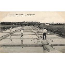 ABAO 17 - Charente-Maritime [17] Angoulins - Marais salants. La récolte du Sel.