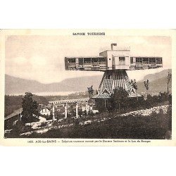ABAO 73 - Savoie [73] Aix-les-Bains - Solarium tournant inventé par le Docteur Saidman et le Lac du Bourget.
