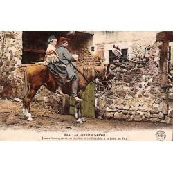 ABAO 43 - Haute Loire [43] Le Puy - Le Couple à Cheval.