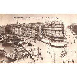 ABAO 13 - Bouches-du-Rhône [13] Marseille - Le Quai du Port et Rue de la République.