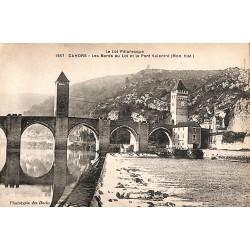 ABAO 46 - Lot [46] Cahors - Les Bords du Lot et le Pont Valentré.