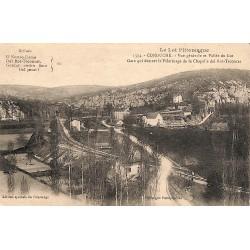 ABAO 46 - Lot [46] Conduché - Vue générale et Vallée du Lot. Gare qui déssert le Pélérinage de la Chapelle del Rot-Trooucat.