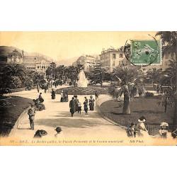 06 - Alpes Maritimes [06] Nice - Le Jardin public, la Poésie Pastorale et le Casino municipal.